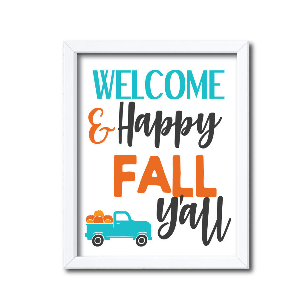 Country Themed Fall Sign