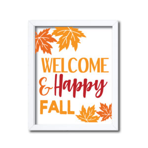 Happy Fall Printable Sign