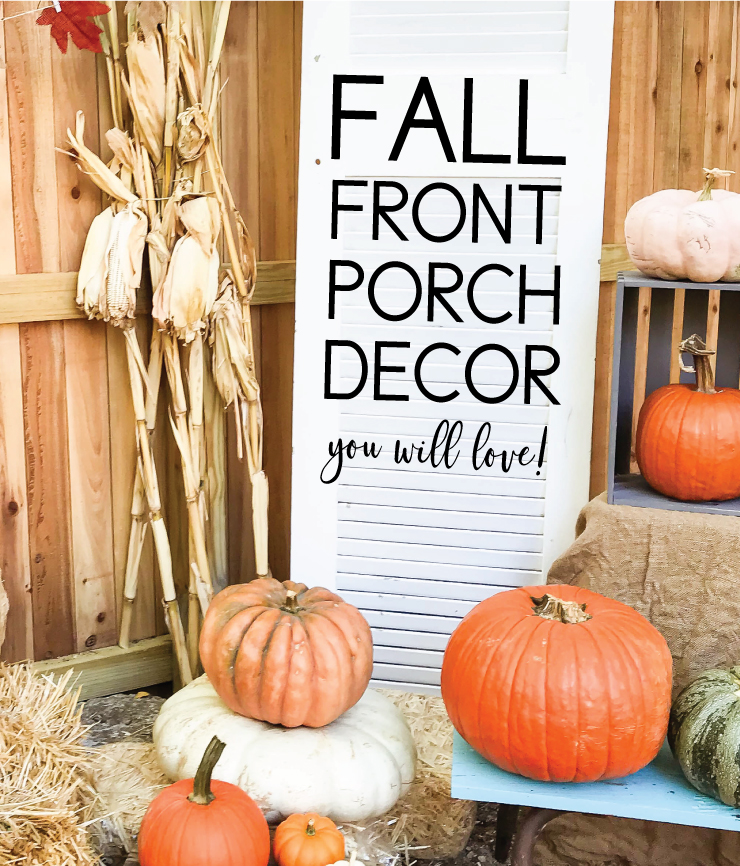 adorable front porch decor for fall