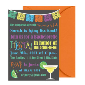 Fiesta Bachelorette Party Invite