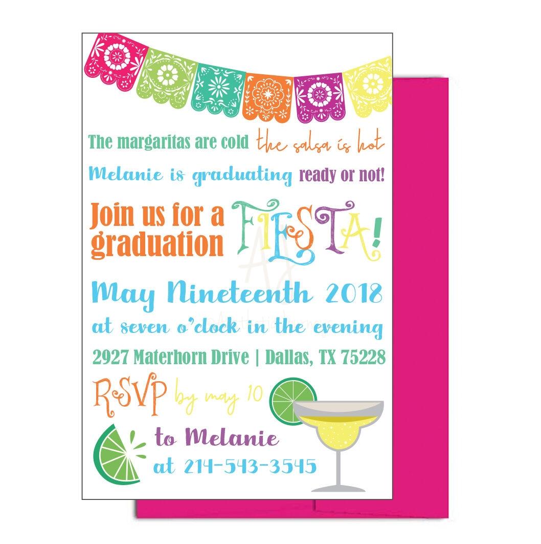 Fiesta Themed Graduation Invite