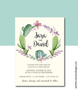 Floral fiesta wedding invite