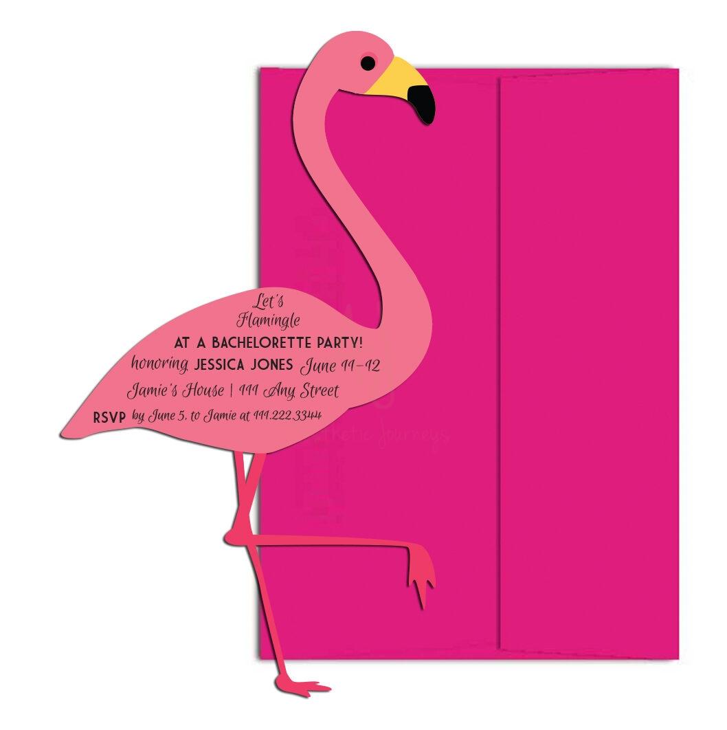Let's Flamingle Bachelorette Invite