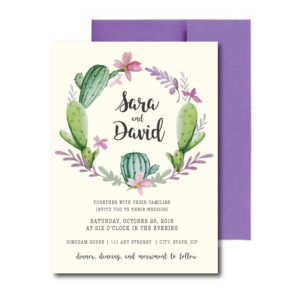 Fiesta themed Floral Wedding Invite