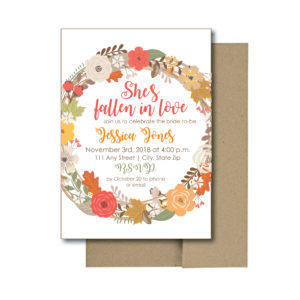 Fall Floral Bridal Shower Invite