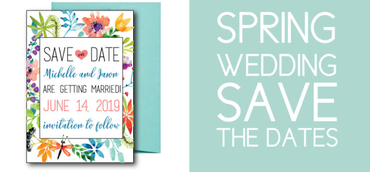 Spring Wedding Floral Save the Dates