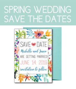 Floral Save the Dates for a Spring Wedding