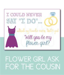 Cousin Flower Girl Card