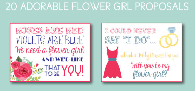 20 Adorable Flower Girl Proposals