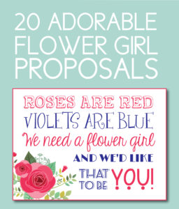 20 Adorable Flower Girl Proposals You Can Download Instantly