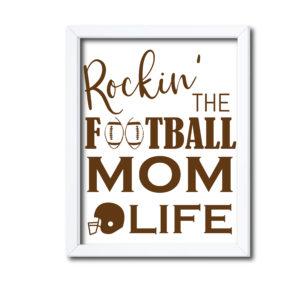 Funny Football Mom Sign