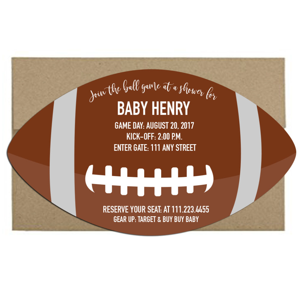football themed invite