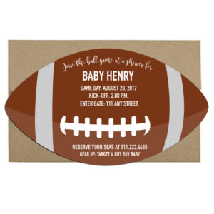 football themed invite