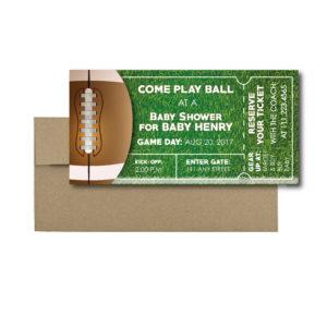 Football Ticket Baby Shower Invite