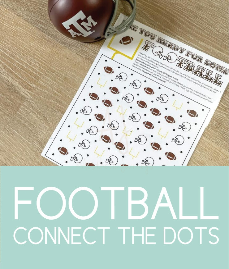are you ready for some football connect the dots game