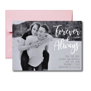 Forever and Always Photo Save the Date