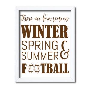 Four Seasons Football Sign