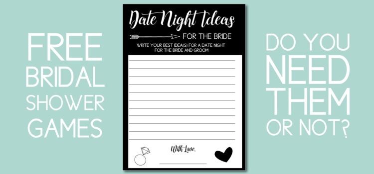 Do you need these free bridal shower games?