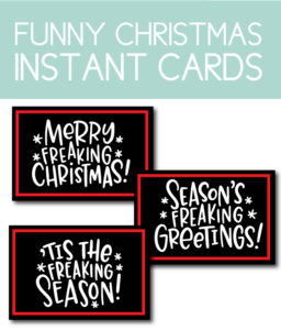 Funny Instant Christmas Cards