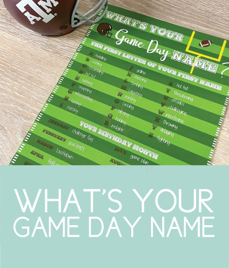 what's your game day name