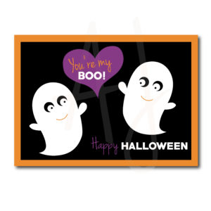 Ghost Themed Halloween Card