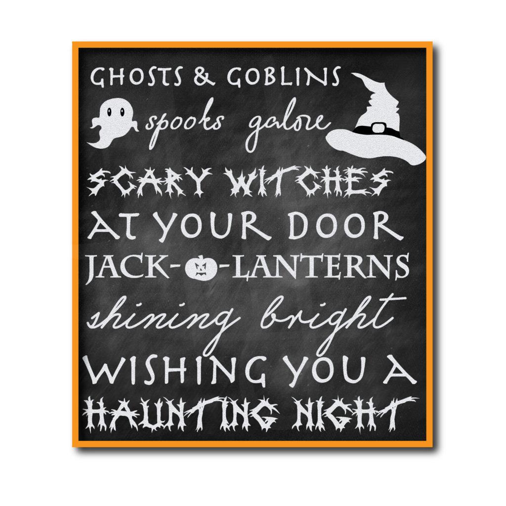 Chalkboard Halloween Sign