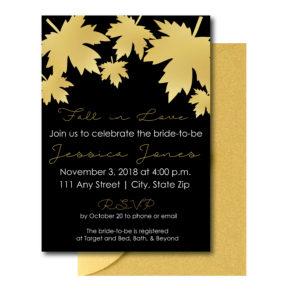 Gold and Black Bridal Shower Invite