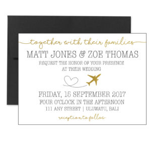 Gold Travel Themed Invite