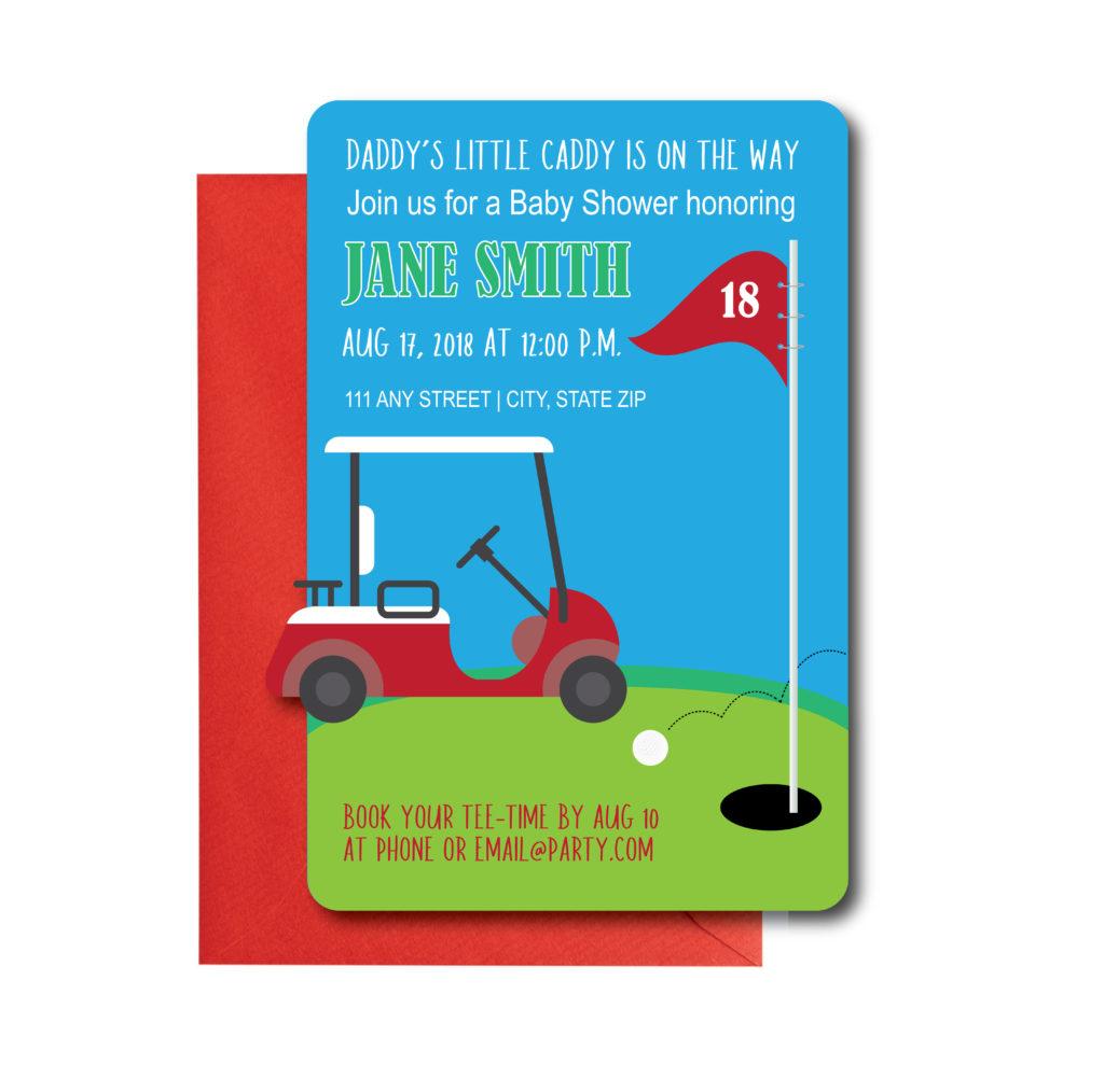 Golf themed Baby Shower Invite
