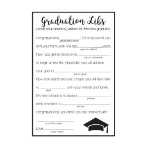Graduation Libs Advice Cards
