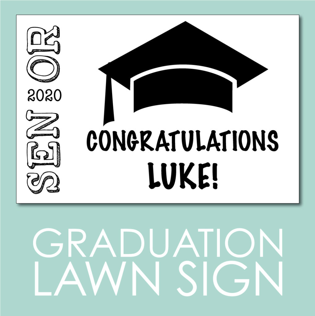 Printable Graduation Sign for the Virtual graduation party