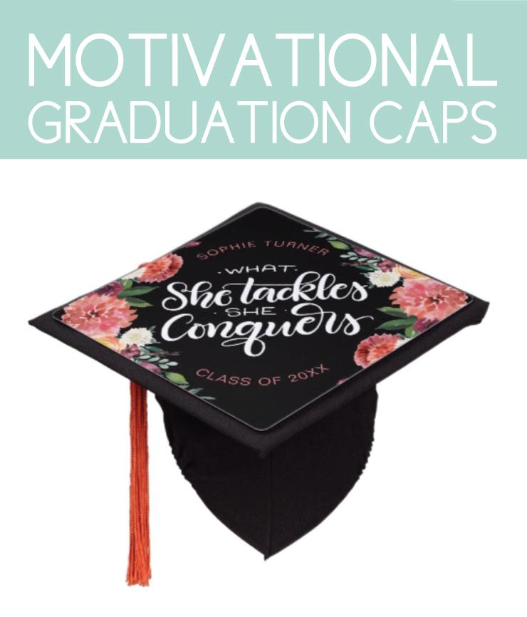 Motivational graduation caps