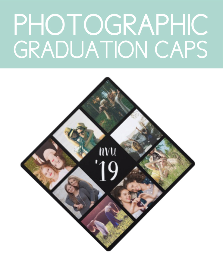 Graduation caps with photos