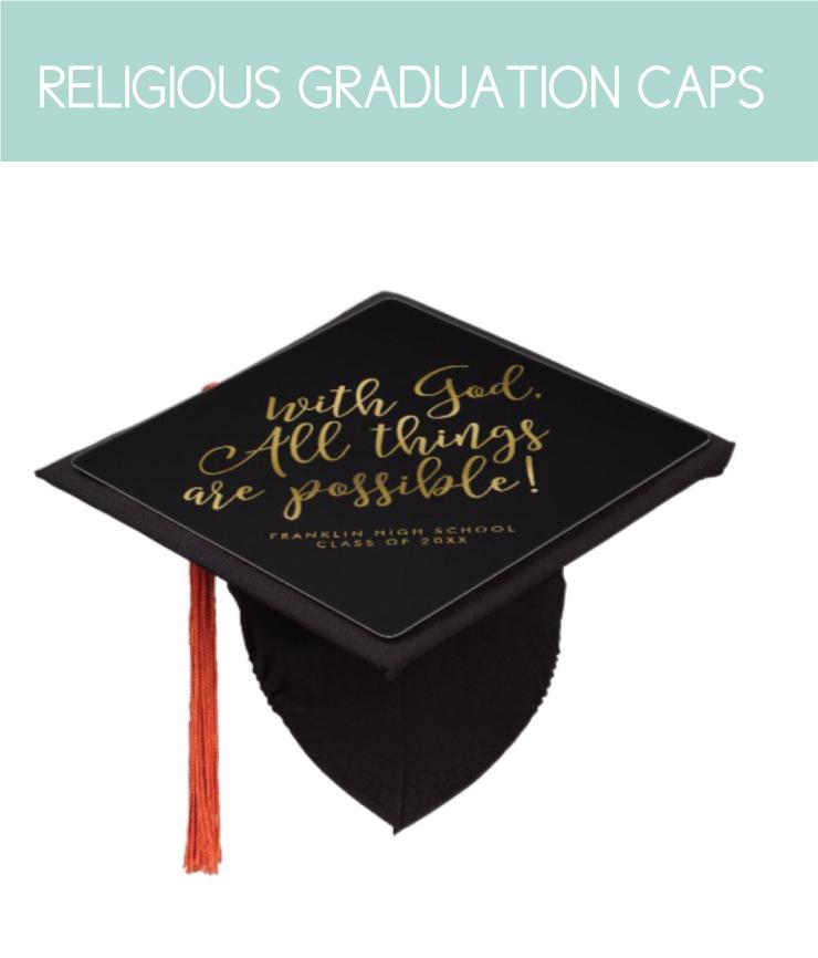 Religious graduation caps