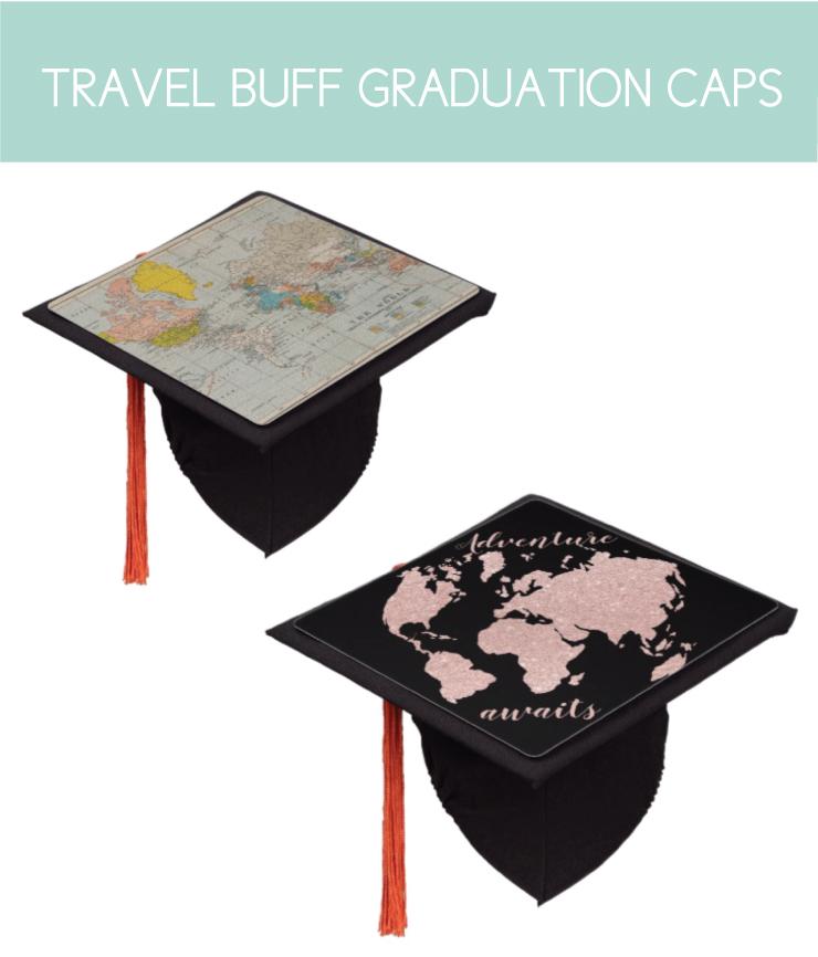 Travel Themed Graduation Caps