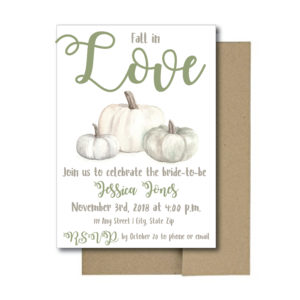 Simple Fall Bridal Shower Invite