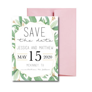 Greenery Save the Date