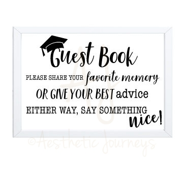 Graduation Guest Book Sign