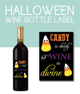 Halloween Candy Bottle Label