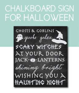 Chalkboard Sign for Halloween
