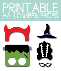 Printable Halloween Photo Props