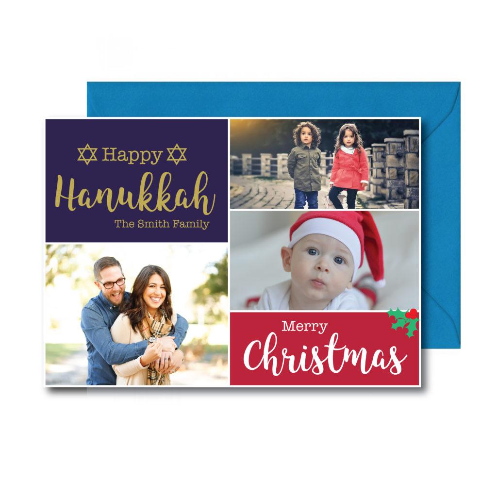 Hanukkah and Christmas Photo Card