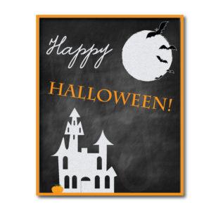 Chalkboard Happy Halloween Sign
