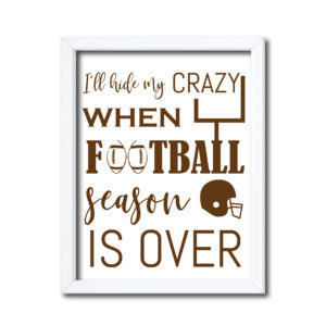 Hide My Crazy Football Sign