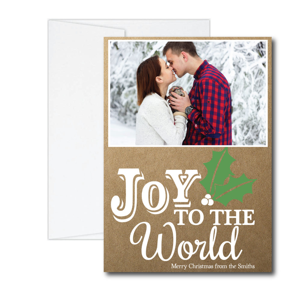 Rustic Joy to the World Holiday Card