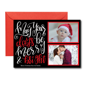 Red and Black Photo Holiday Card
