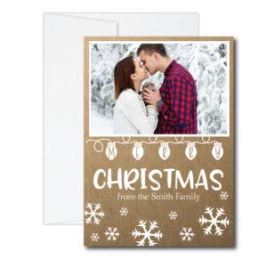 Kraft Snowflake Christmas Card
