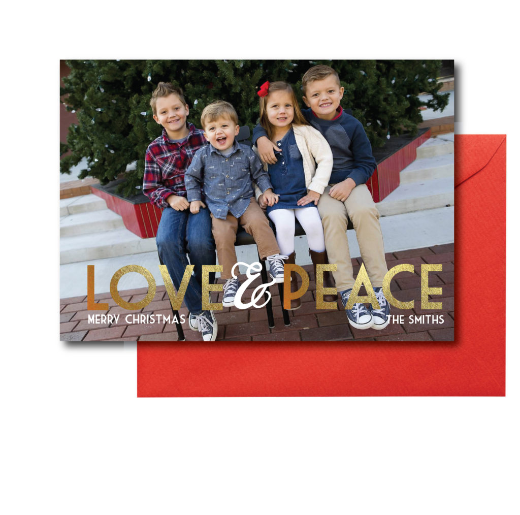 Love and Peace Holiday Card