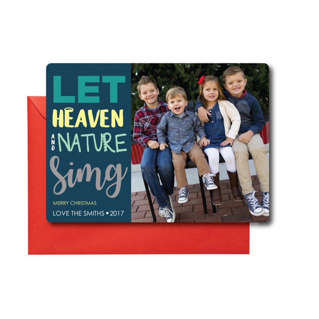 Photo Christmas Card with Religious Quote