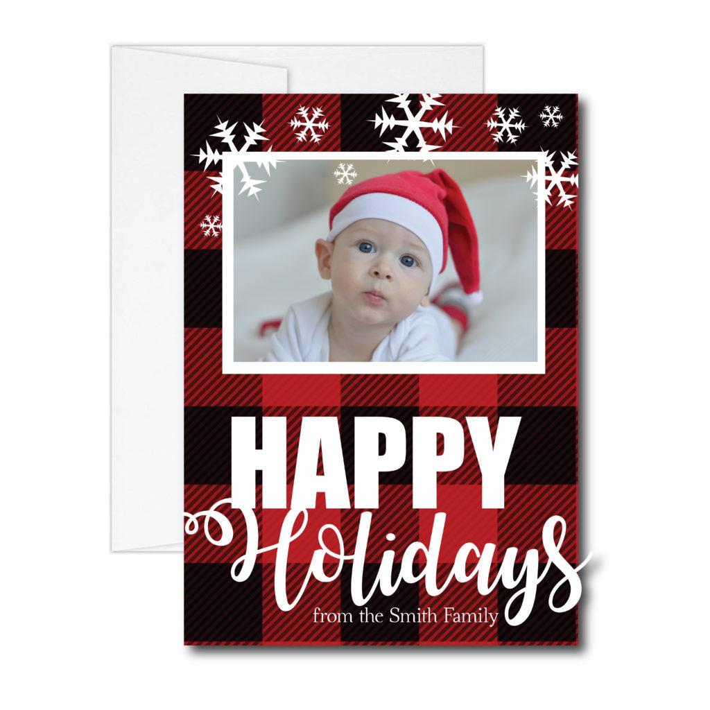 Plaid Happy Holidays Card
